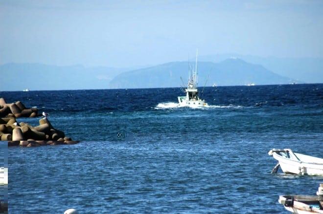 津軽海峡 大間マグロ漁船