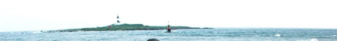本州最北端から大間崎灯台を望む